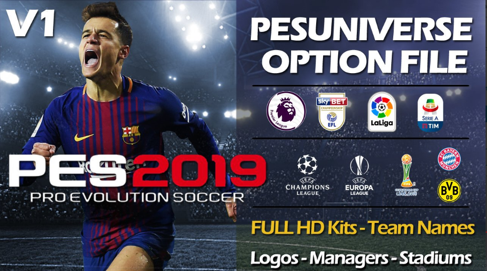 PesUniverse V1 | Option File | Online | PS4 | PC [29 08 2018] | Pes