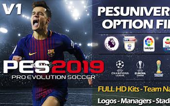 PesUniverse V1 | Option File | Online | PS4 | PC [29.08.2018]