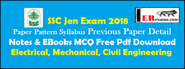 all Paper Pattern, Syllabus, Previous Paper Detail, Notes & EBooks MCQ Free Pdf Download electrical, mechanical, civil engineering.