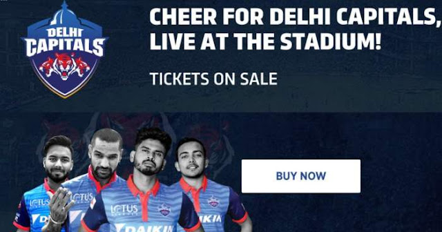 VIVO IPL 2019 Delhi Capitals (DC) Ticket Booking : Price and Cost