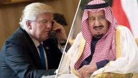 Saudi king praises Trump for Syrian airstrikes
