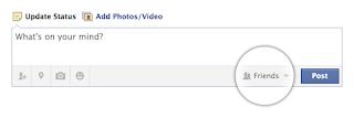 フェイスブックの投稿画面の初期設定は友達まで
