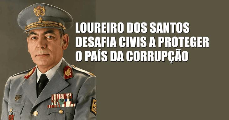 General desafia civis a proteger o país da corrupção