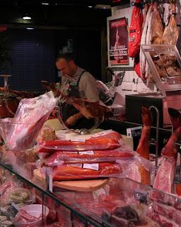 Jamon iberico al Mercado de San Anton