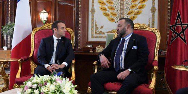 ماكرون يشيد بقيادة الملك محمد السادس وبالعلاقات الاستثنائية بين البلدين