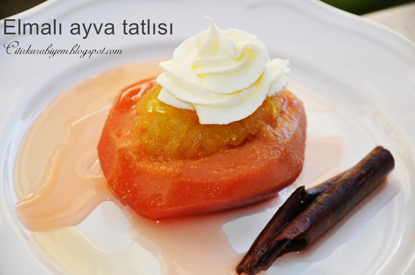 Elmalı Ayva Tatlısı Tarifi