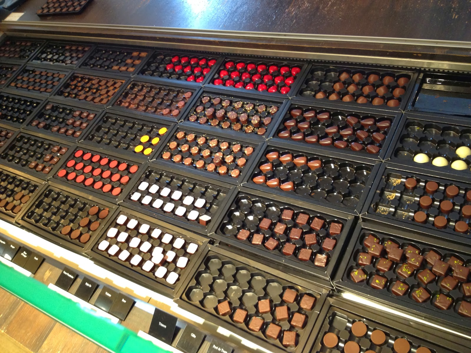 Brussels - Chocolate selection at Pierre Marcolini