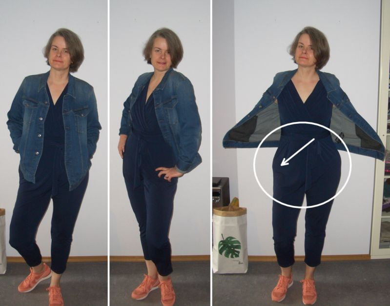 Jumpsuit mit Jeansjacke