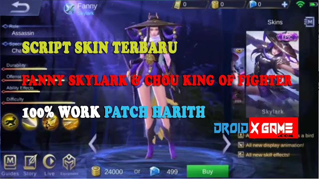 Script Skin Fanny Skylark & Chou King of Fighter Terbaru [ Patch Harith ]