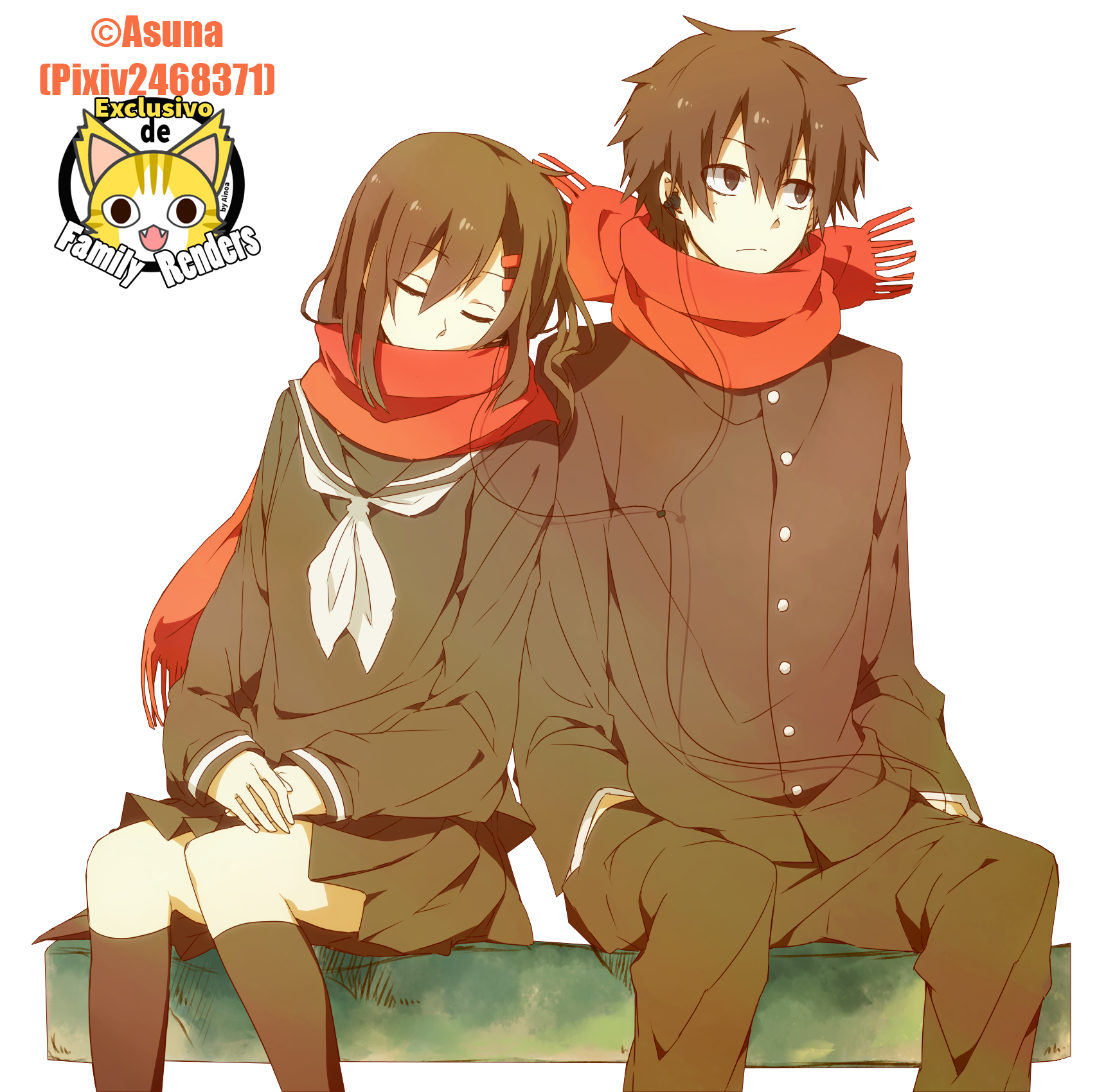 PNG-Ayano y Shintaro // Kagerou Project