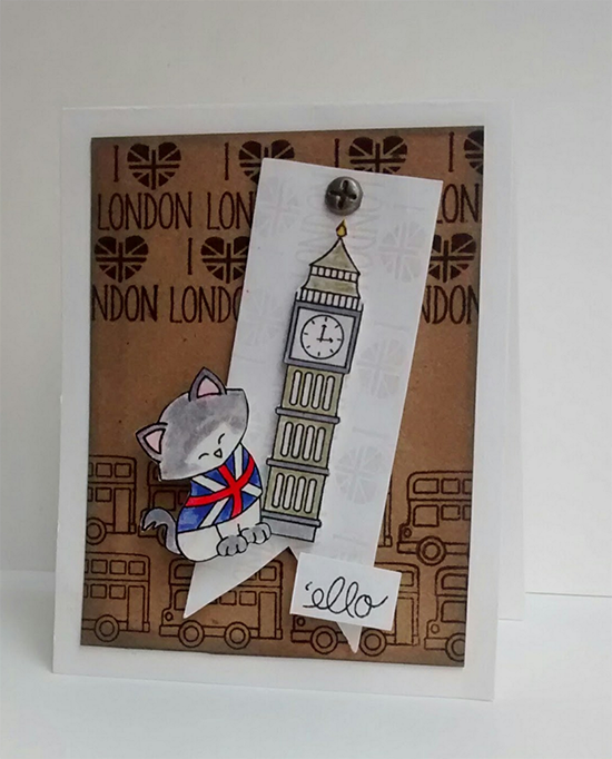 London card by Diane Morales | Newton Dreams of London Stamp set by Newton's Nook Designs #newtonsnook