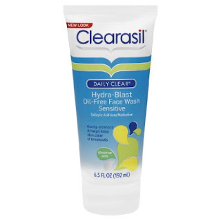 clearasil hydra-blast face wash, sensitive