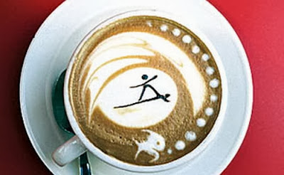 Surfing Coffe Foam Barista Art
