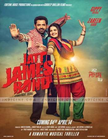 Poster Of Jatt James Bond 2014 Punjabi 600MB HDRip 720p HEVC Watch Online Free Download downloadhub.in