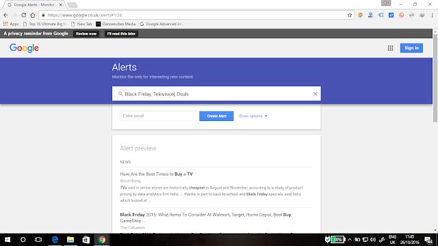 best Black Friday deals with Google Alerts