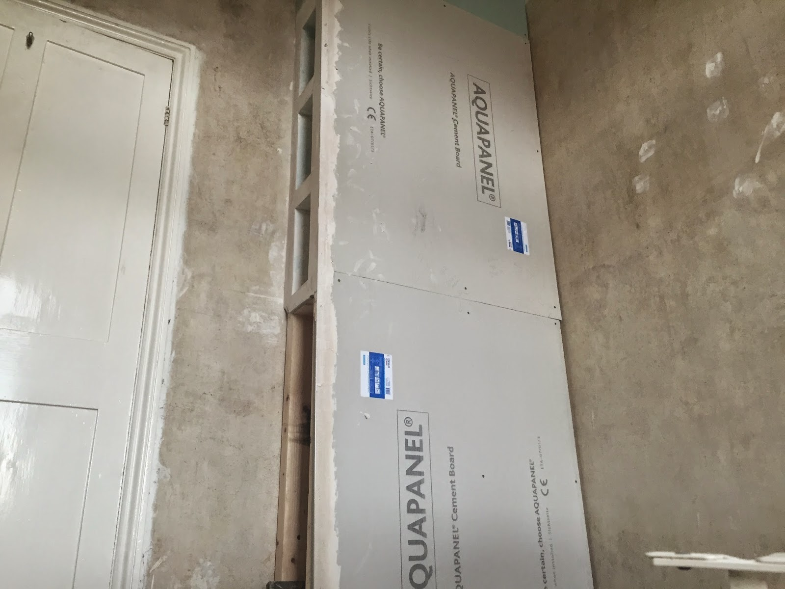 Building A Stud Wall With Recessed Shelving Kezzabeth
