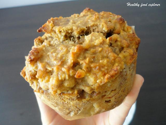 Zdrowe muffinki z jabłkami i orzechami