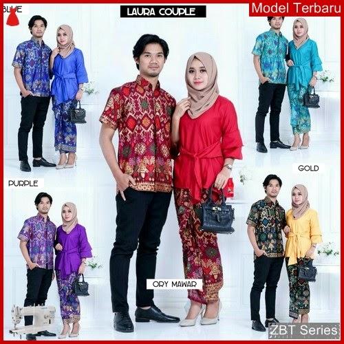ZBT14509 Kebaya Batik Couple Rufle Laura Obi BMGShop