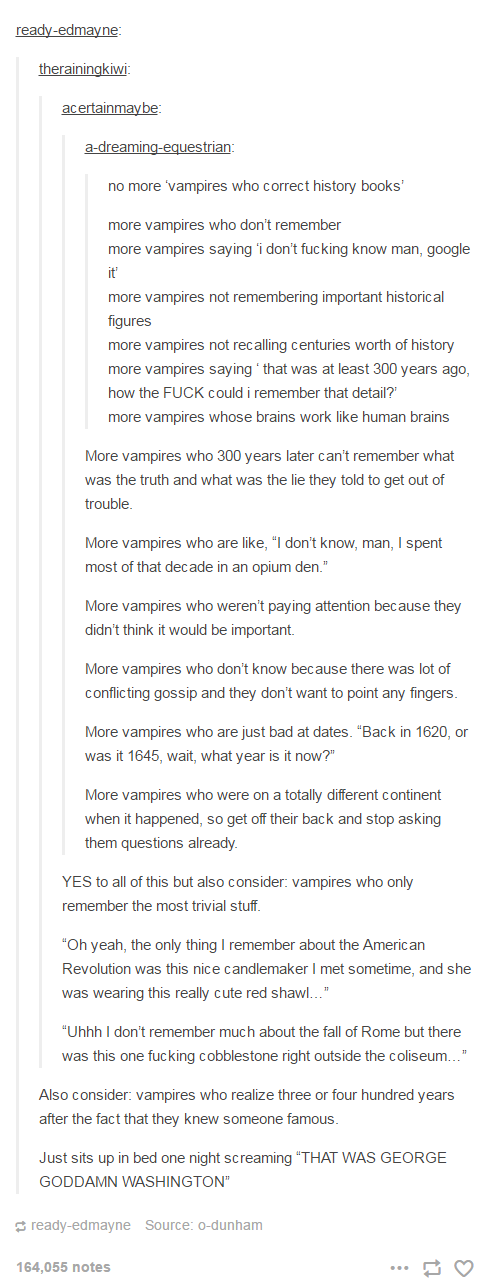 "No more ""vampires who correct history books"""