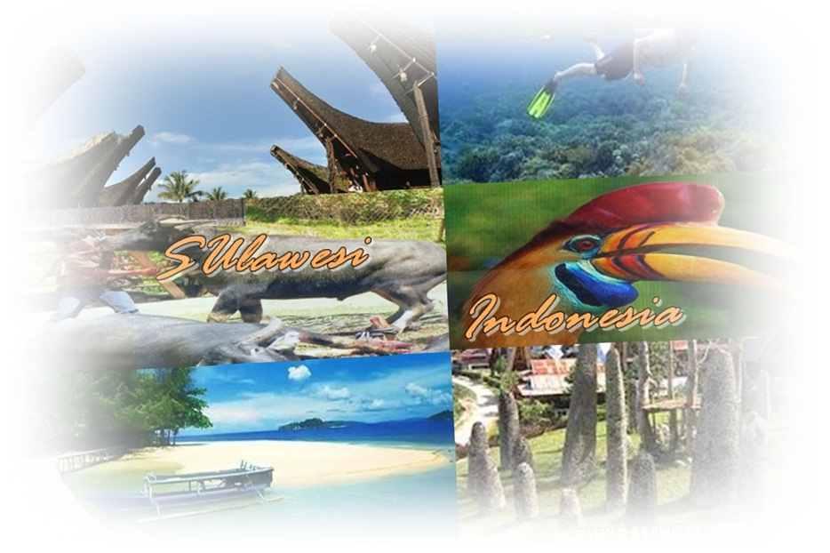 Gambar daftar tempat-tempat wisata di Pulau Sulawesi Indonesia yang paling terkenal