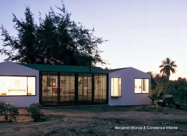 Sector ampliado de casa de campo chilena