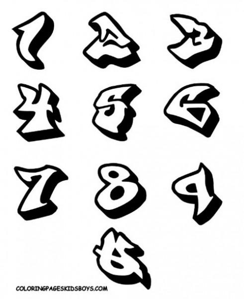 Bubble Graffiti Numbers : bubble, graffiti, numbers, Graffiti, Numbers