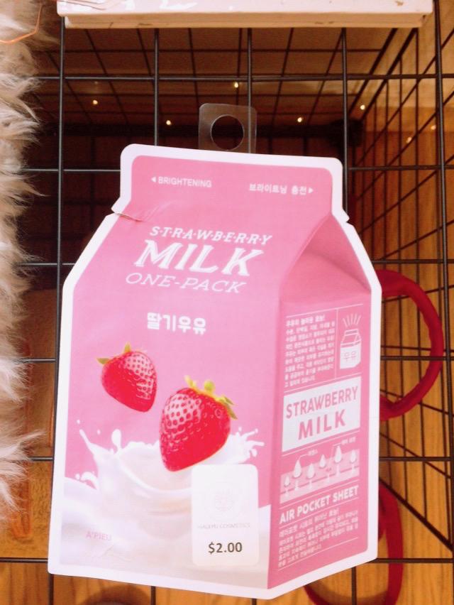 Review: A'pieu Strawberry Milk Sheet Mask - $2