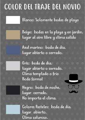 el color del traje del novio