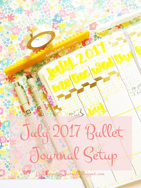 July 2017 bullet journal setup