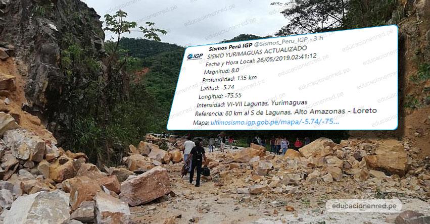 Terremoto en Loreto fue de Magnitud 8.0, según informe actualizado del Instituto Geofísico del Perú - IGP - www.igp.gob.pe
