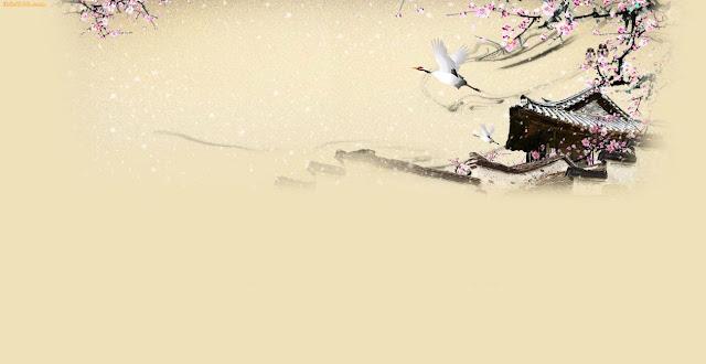 Hình nền thư pháp đẹp - ảnh tranh thủy mặc
