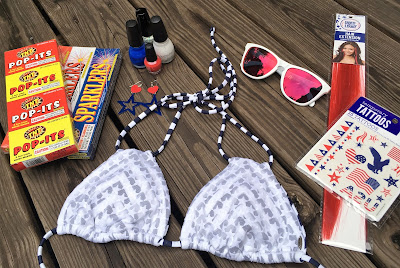 O'NEILL, surfing, swim, Freedom, Liberty, 4th of July, choices, bikinis, swimwear, red, white and blue, accessories, Oakley, sunglasses, shopping, celebrate, fireworks, live, earrings, nail polish, tattoos, hair