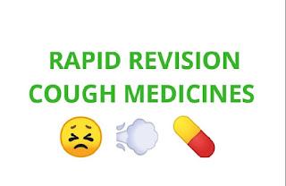 Rapid revision of cough medicines