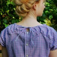 Link zu Blusenshirt Herzstück von Finas Ideen Upcycling Herrenhemd