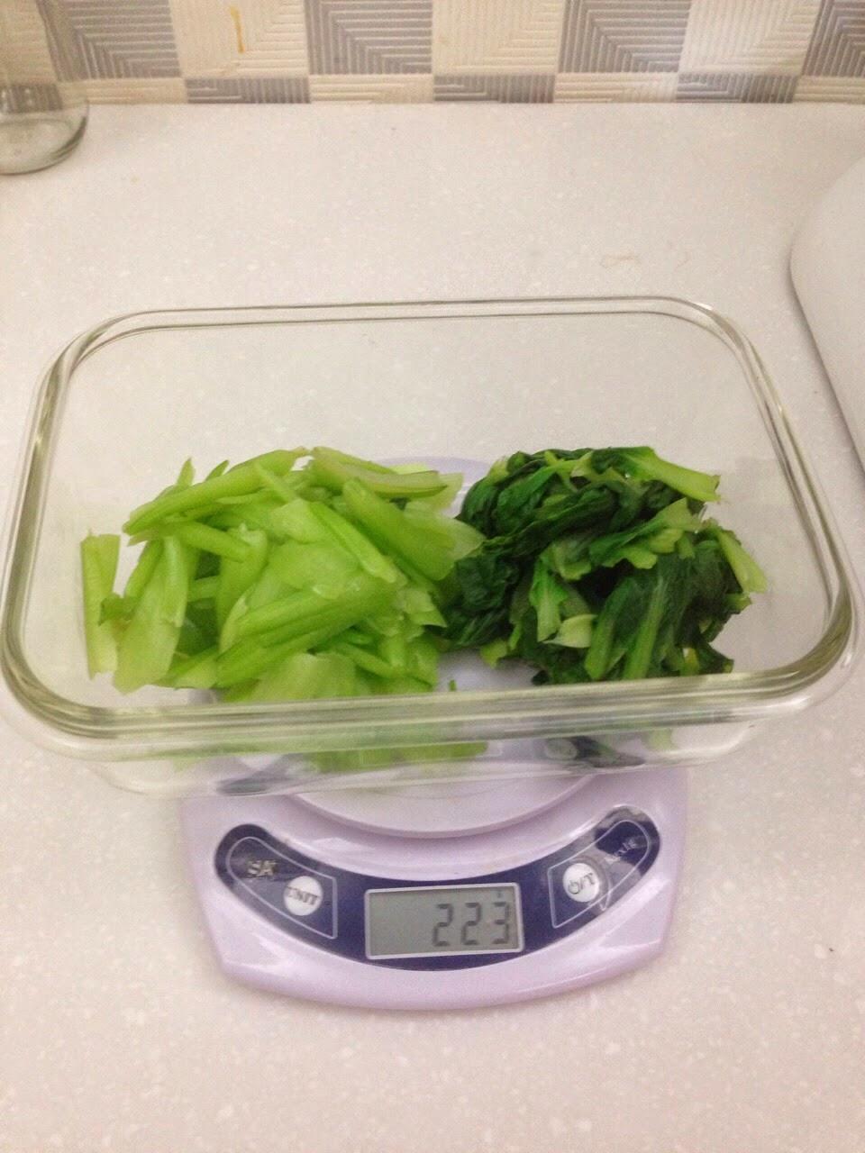 謙瑜營養飲食學堂: 青江菜:廢棄率 15%,收縮率 13%