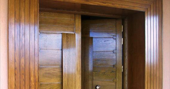 portes d 39 entr e de villa moderne en bois noble ch ne tunisie soci t meubles jemour fr res. Black Bedroom Furniture Sets. Home Design Ideas