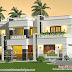 Decorative flat roof 3 BHK home design