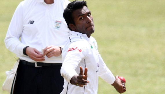 Senuran Muthusamy (Credit: Anesh Debiky) - Hollywoodbets Dolphins - Cricket - Sunfoil Series - Bowling Spin