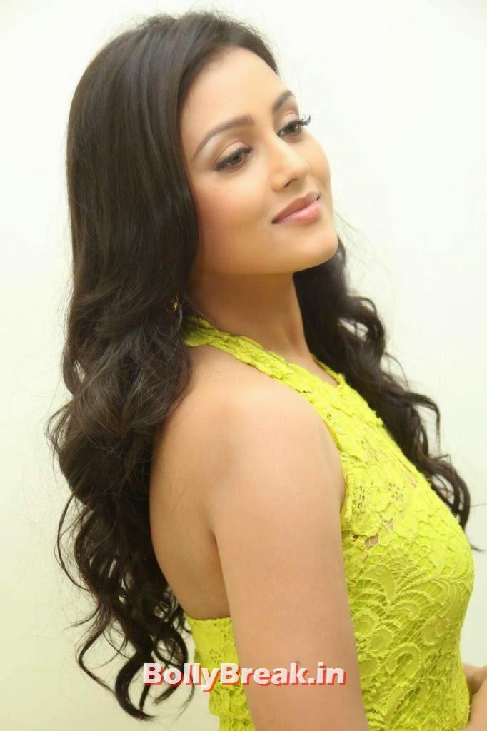 Telugu Actress Mishti Chakraborty, Mishti Chakraborty hot Hd Images in Green Dress