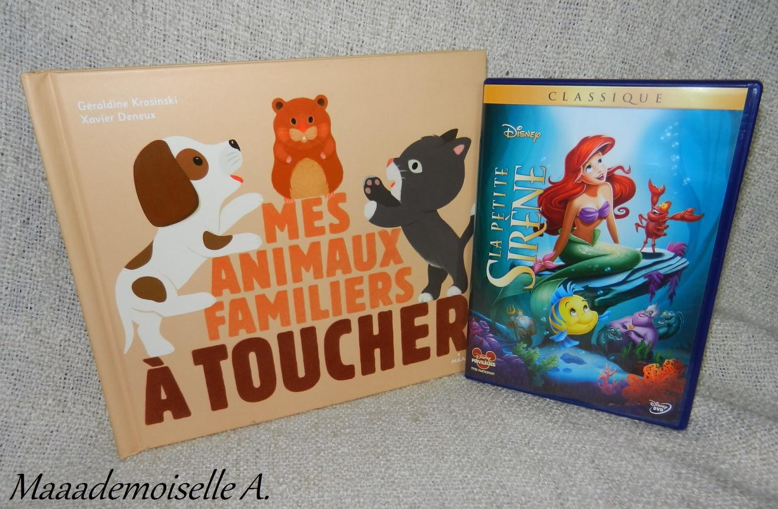 livre mes animaux familiers à toucher et dvd la petite sirène