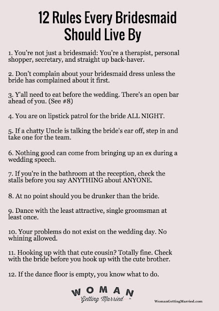 12 Rules Every Bridesmaid Should Live By