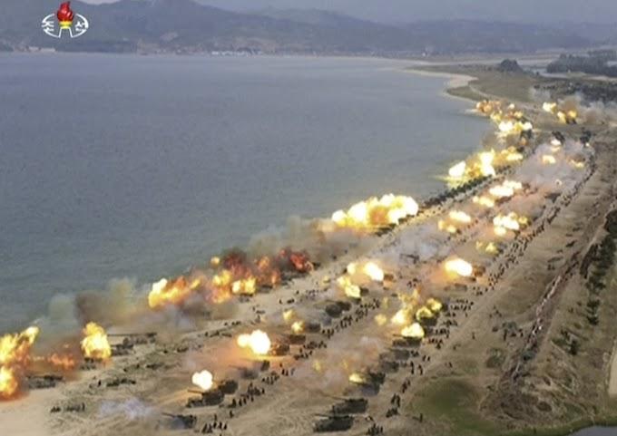 TENSÃO NA ÁSIA: Coréia do Norte divulga imagens de exercício militar