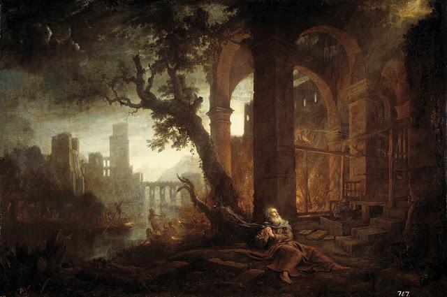 Paisaje con las tentaciones de San Antonio – Claude de Lorraine