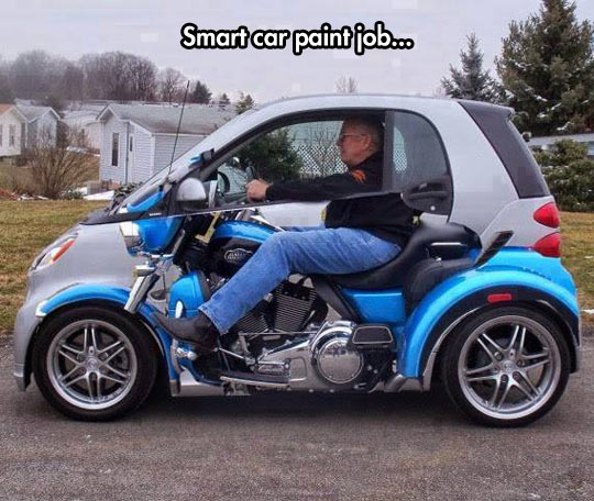 She Who Seeks Smart Cars - Cool painted cars