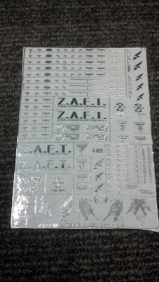 Gundam Metallic Decals