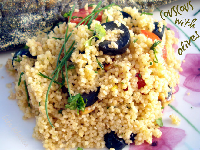 Couscous with olives by Laka kuharica: light, easy to prepare and delicious side dish.