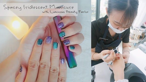 Spacey Iridescent Manicure with Luminous Beauty Parlour
