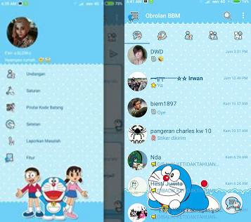 BBM Mod Doraemon theme Apk