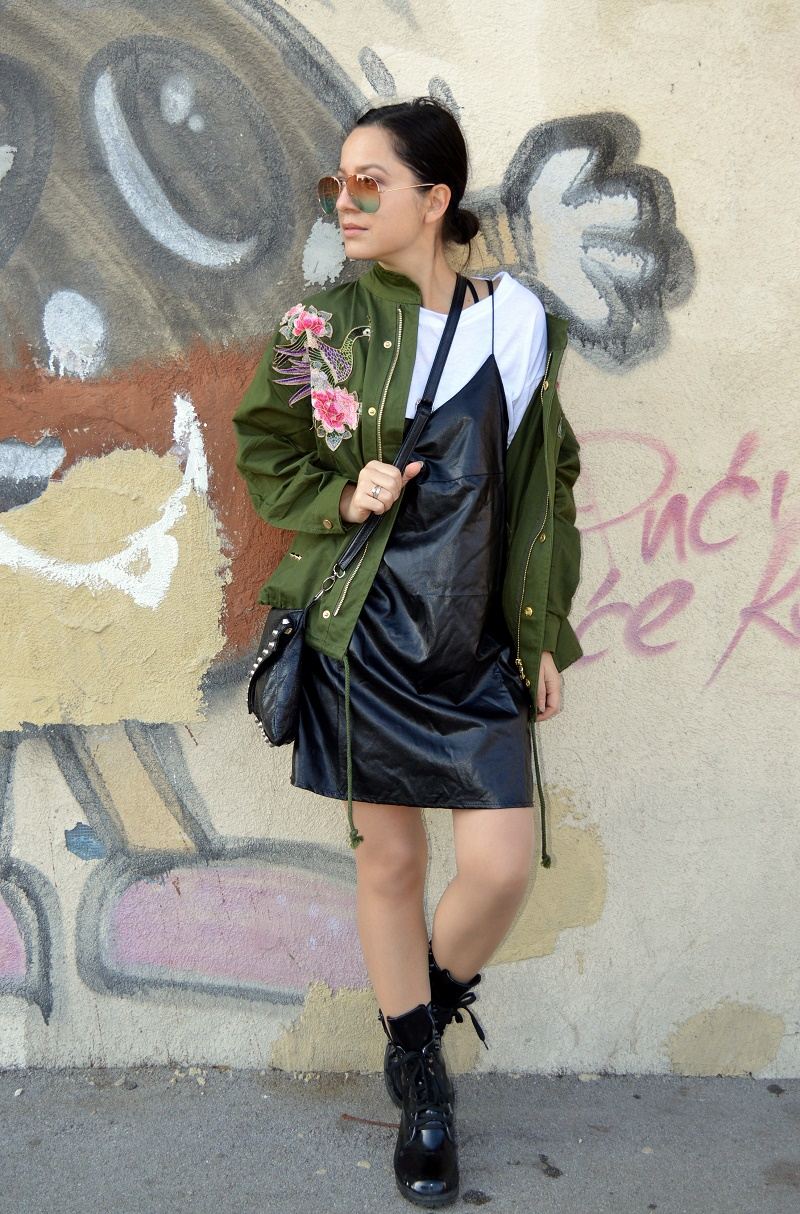 embroidered jacket with patches