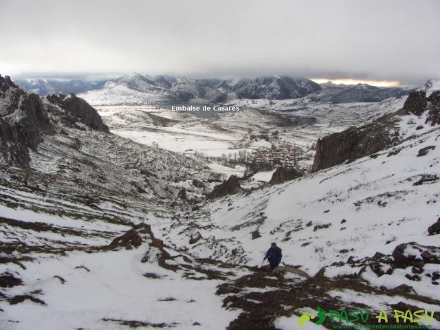 Ruta a la Barragana: Embalse de Casares desde las inmediaciones de Collado Ferreras